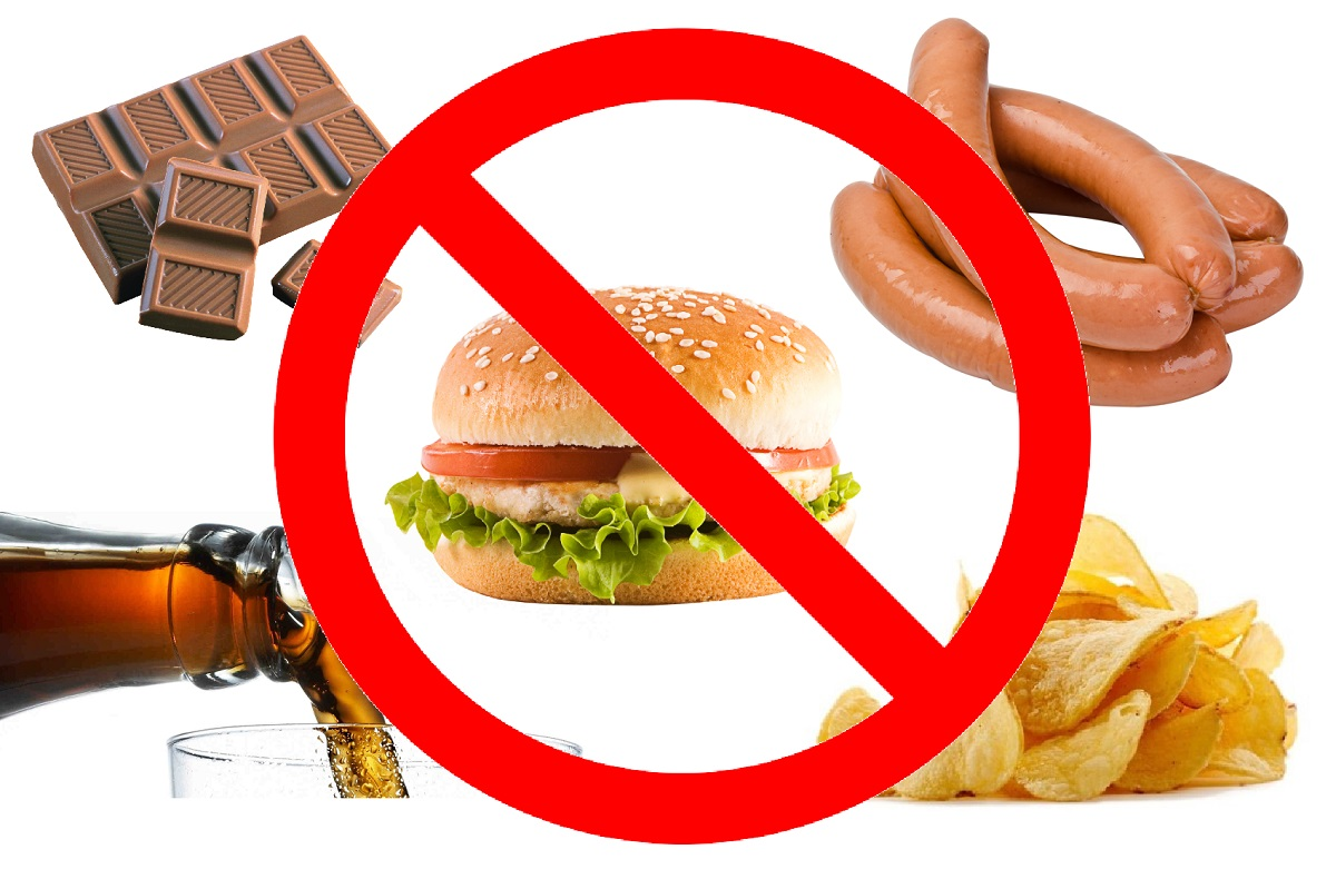 Исключение вредной пищи