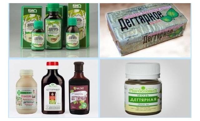 Лекарственные средства с дёгтем