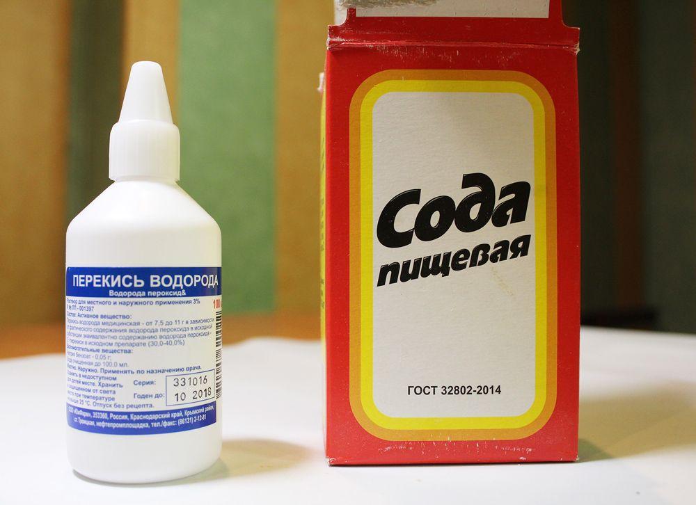 Добавление к соде перекиси водорода